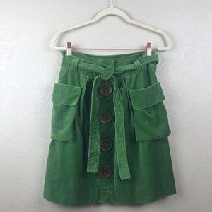 Anthropologie elevenses green skirt 4